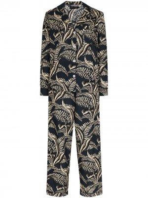Пижама с принтом Desmond & Dempsey. Цвет: синий