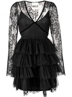 Платье с оборками Aniye By. Цвет: черный