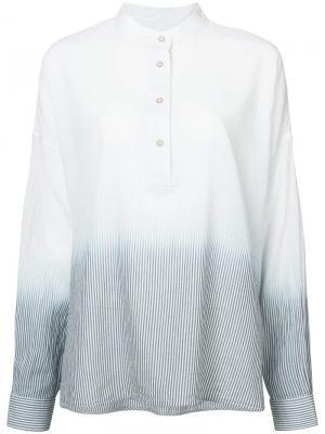Градиентная рубашка Elizabeth And James. Цвет: белый