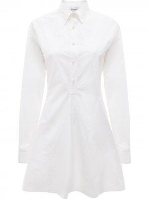 Платье-рубашка JW Anderson. Цвет: белый