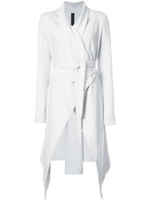 Пальто асимметричного кроя Gareth Pugh. Цвет: серый