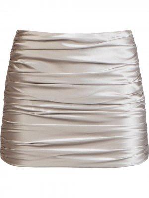 Юбка мини со сборками Michelle Mason. Цвет: нейтральные цвета