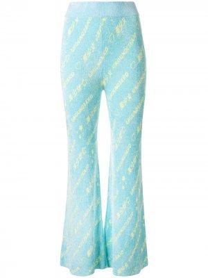 Трикотажные брюки с логотипом Ground Zero. Цвет: синий