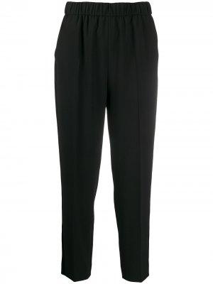 Укороченные зауженные брюки Escada. Цвет: черный