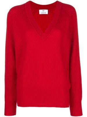 V-neck jumper Allude. Цвет: красный