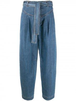 Широкие джинсы с поясом See by Chloé. Цвет: синий