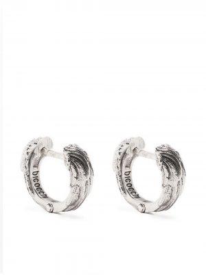 Серьги-кольца Emanuele Bicocchi. Цвет: серебристый