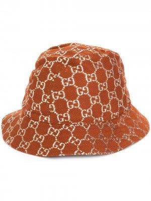 Панама с узором GG Supreme Gucci. Цвет: коричневый