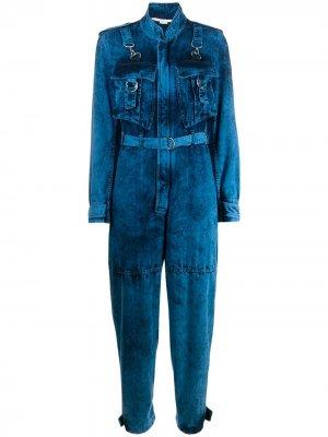 Выбеленный джинсовый комбинезон Stella McCartney. Цвет: синий
