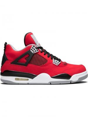 Кроссовки Air  4 Retro Jordan. Цвет: красный