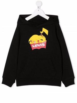 Levis Kids Pokémon-motif cotton hoodie Levi's. Цвет: черный