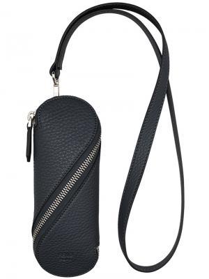 Чехол для ключей на молнии Fendi. Цвет: чёрный