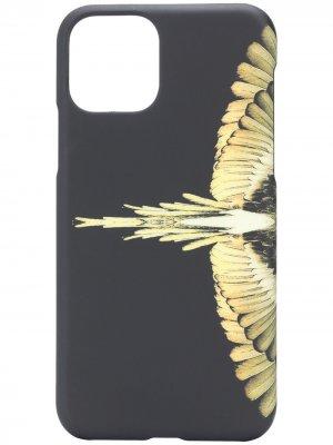 Чехол Wings для iPhone 11 Pro Marcelo Burlon County of Milan. Цвет: черный