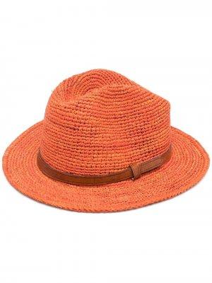 Плетеная шляпа Lubeman IBELIV. Цвет: оранжевый
