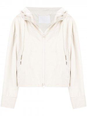 Куртка на молнии с капюшоном Drome. Цвет: белый