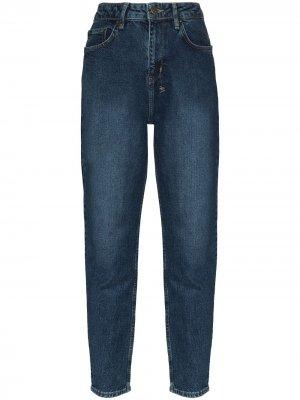 Зауженные джинсы с эффектом потертости Ksubi. Цвет: синий