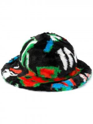 Шляпа из искусственного меха с логотипом Kirin. Цвет: черный
