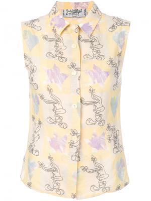 Рубашка без рукавов Bugs Bunny Jc De Castelbajac Vintage. Цвет: желтый