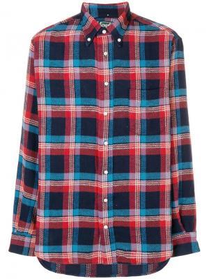 Фланелевая рубашка в клетку Gitman Vintage. Цвет: синий