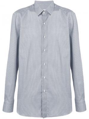 Рубашка с принтом Boglioli. Цвет: синий