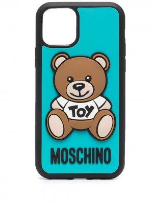 Чехол Teddy Bear для iPhone 11 Pro Moschino. Цвет: синий