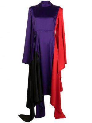 Платье Ella асимметричного кроя Solace London. Цвет: разноцветный