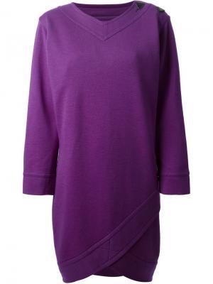 Свободное платье шифт Yves Saint Laurent Pre-Owned. Цвет: фиолетовый