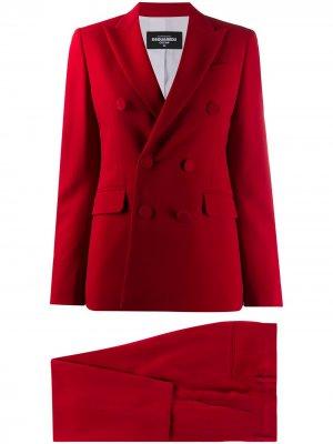 Костюм с двубортным пиджаком и брюками Dsquared2. Цвет: красный