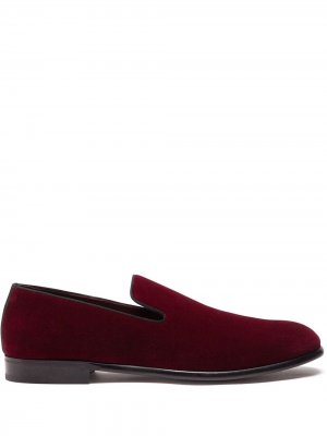 Бархатные слиперы Dolce & Gabbana. Цвет: красный