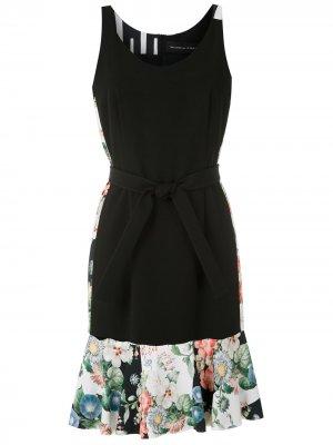 Платье с контрастными вставками Gloria Coelho. Цвет: черный