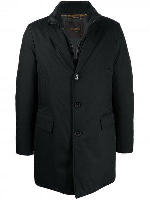 Однобортная куртка Shinjuku Moorer. Цвет: черный