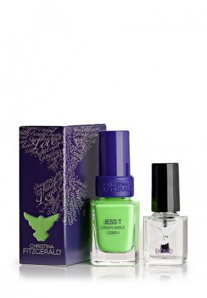 Набор лаков для ногтей Christina Fitzgerald. Цвет: зеленый