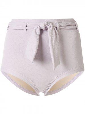 Плавки бикини с завышенной талией Peony. Цвет: фиолетовый