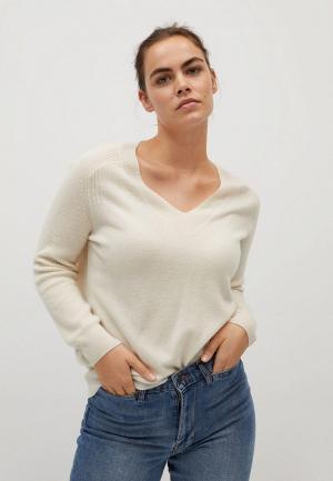Пуловер Violeta by Mango. Цвет: бежевый