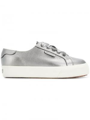 2730 platform sneakers Superga. Цвет: металлик