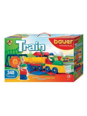 Конструктор Bauer серии Железная дорога 340 эл. (в коробке) 3/3. Цвет: зеленый