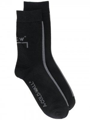 Носки с логотипом A-COLD-WALL*. Цвет: черный
