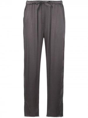 Укороченные брюки Slate с завышенной талией Raquel Allegra. Цвет: серый
