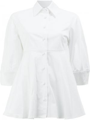 Расклешенная рубашка А-силуэта Alexis. Цвет: белый