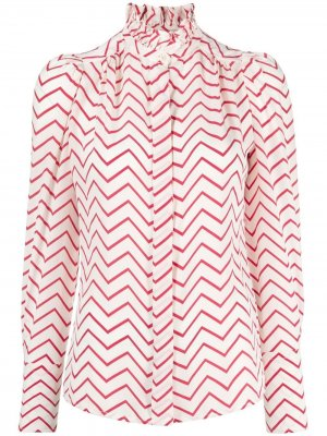 Блузка с узором зигзаг Isabel Marant. Цвет: белый