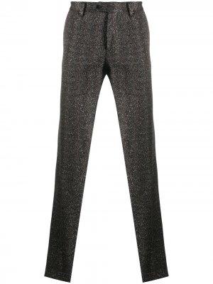 Прямые брюки с эффектом металлик Missoni. Цвет: черный
