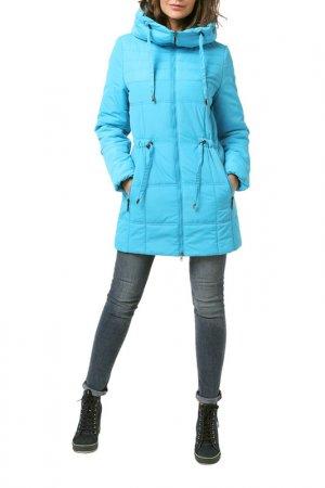 Куртка удлиненная DizzyWay. Цвет: голубой