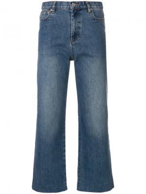 Укороченные прямые джинсы A.P.C.. Цвет: синий