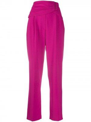 Прямые брюки с завышенной талией MSGM. Цвет: розовый