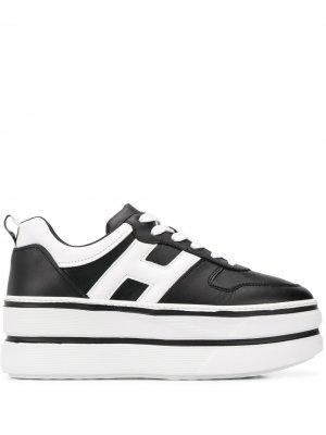 Кроссовки на платформе Hogan. Цвет: черный