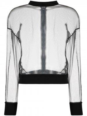 Прозрачная сетчатая спортивная куртка Alchemy. Цвет: черный