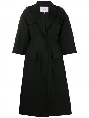 Пальто оверсайз с карманами Carolina Herrera. Цвет: черный