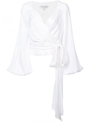 Блузка с длинными рукавами Milly. Цвет: белый