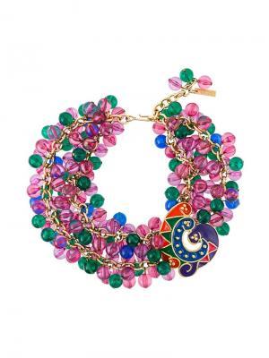 Ожерелье-чокер Versace Vintage. Цвет: разноцветный