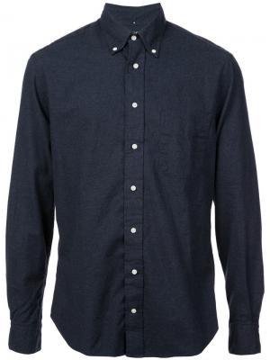 Классическая фланелевая рубашка Gitman Vintage. Цвет: синий